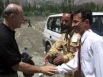 Shaking hand with President, Ismaili Local Council Gulmit