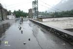 A cracked road rear Jinnah Bridge