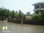 River View road in front of the Grand Continental Hotel, Chinar Bagh