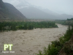 Volume of water in the river has increased as compared to yesterday