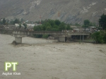 An under construction bridge connecting Gilgit city with Konodas