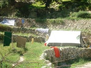Army monitoring camp at Attabad