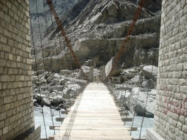 The Sarat bridge dismantled earlier due to fear of flooding has been reconstructed
