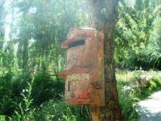 The village post box that has been empty since January 4, 2010