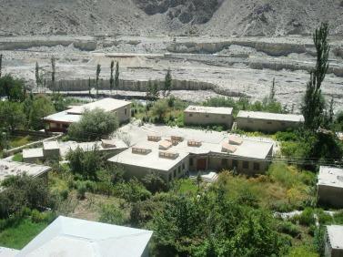 A modern school building at Sarat