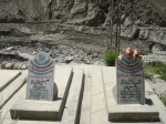 Final resting places of father and son whose bodies were found 2 months after the landslide disaster