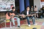 DW Baig and Khayyam (L) performing a Wakhi song