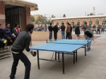 A table tennis match in progress