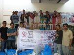 A team of doctors and students from the Ayub Medical College with whom Dr. Fauzia coordinated for the humanitarian cause