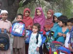 Kids with their school bags