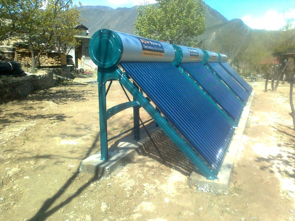 A Solar Water Heater installed in Chitral