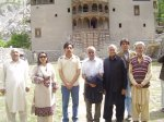 A group photo in front of the Khapulu Fort renovated by Aga Khan Cultural Service, Pakistan