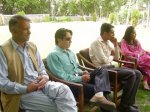 (L-R) Jamshed Khan Dukhi, Ashiq, Talib Hussain Talib and Ambar