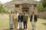 Literary icons of GB (L-R) Jamshed Khan Dukhi, Muhammad Amin Zia and Abdul Khaliq Taj among others