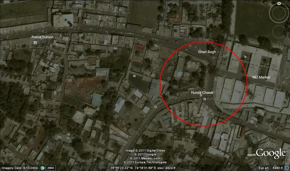 Gilgit murder scene