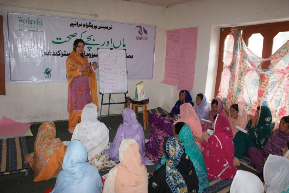 Ishkoman: Training participants attentively listening to a presentation