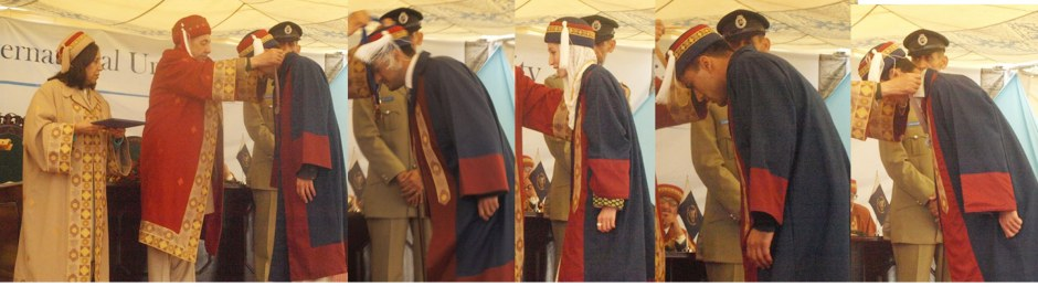 GB Governor awarding medals to position holder graduates